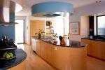 Кухня с использованием декоративных материалов
