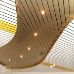 Пример потолка из цельнометаллических реек