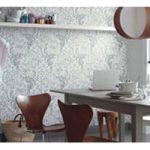 Облицовка стен кухни обоями