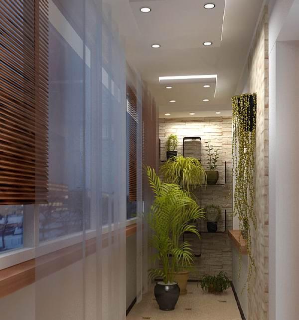 Фото интерьеров балконов и лоджий.
